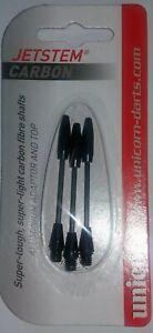 Unicorn JetStem Carbon carded darts stems. rrp  £6-95