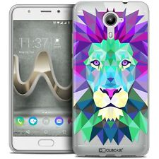 Coque Housse Etui Pour Wiko U Feel PRIME Polygon Animal Souple Fin Lion