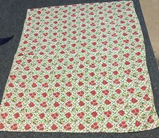 Vintage Christmas Tablecloth 50�x64� Poinsettia Holly Berry Red Green White