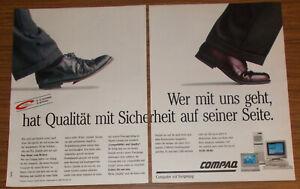 Vintage 1991 COMPAQ PCs Personal Computer Print Ad advert #2 German