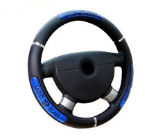 Universal 38cm Car Dragon Word Pattern Steering Wheel Cover Blue Black Anti-Slip