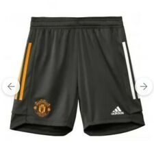 2020-2021 Man Utd Adidas Training Shorts (Green) - Men SIZE M