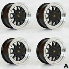 "Autostar Raider 15"" 4x108 et20 Black alloys fit Peugeot Partner"