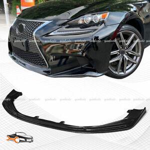 Carbon Fiber For Lexus IS250 350 200T F-Sport 2014-2016 Front Bumper Lip Spoiler