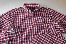 Vineyard Vines Whale Shirt Nauset Check Genoa Red Slim Fit LS New Extra Large XL