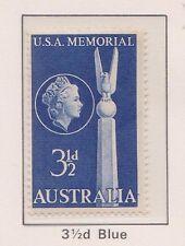 (Q17-58) 1955 AU 3½d blue USA friendship MH