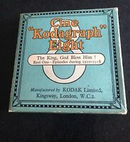 original old cine kodagraph eight - the king .god bless him reel 1 1910 -18