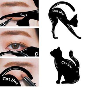 2 stk. Katze Schablone Hilfe Augenbraue Lidschatten Eyeliner 10 Styles Catlook