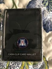 Arizona Wildcats Fine Leather Money Clip Card & Cash Holder Wallet NCAA Licensed