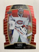 2019-20 Upper Deck Allure Red Rainbow DieCut #11 Carey Price Montreal Canadiens