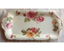 Hammersley Morgan's Rose Yellow Background Rectangular Sandwich Platter