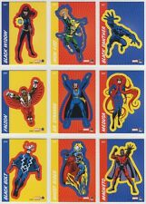 2014 Marvel 75th Anniversary Retro Sticker complete chase set (18 cards) S19-S36