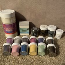 Embossing Powder Lot of 17 - Lindy's Stamp Gang, Zing, Tim Holtz Distress, More!