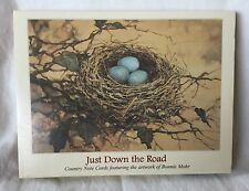 Bonnie Mohr Studio Just Down The Road Country Note Cards Set Of 10 Eggs in Nest