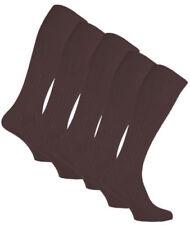 Calcetines de hombre en color principal marrón 100% algodón con pack
