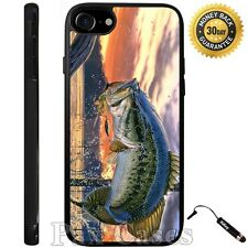 Pro Fishing Bass Mouth Case For iPhone 6S 7 Plus Samsung Galaxy S7 Edge S8 Plus