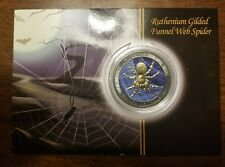 2015 1oz Australian funnel web spider silver coin, ruthenium and gold plate