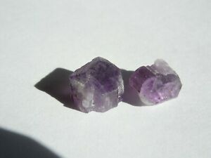 2pc. 10mm RARE ROUGH PURPLE SCAPOLITE crystals AFGHANISTAN  1.6g METAPHYSICAL #7