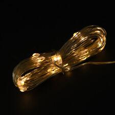 1pc Luminous LED Balloon Transparent Round Bubble Christmas Decor LED Rope 3c Warm White
