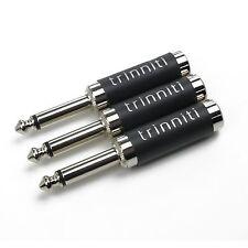 3x Silver Trinniti 1/4 Inch Plug Lights Moog Modular MU Dot Com MOTM .com module