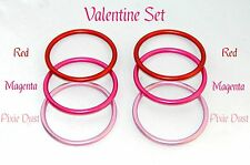Valentine Pack of 3 Inch Aluminum Rings for Crafting and Do It Yourself Sling