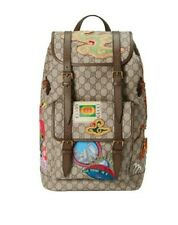 GUCCI Zaino Patch Logo Monogram Supreme Canvas Backpack