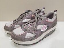 Skechers Shape Ups Womens 10 Power Pressed Walking Sneakers Kinetic Wedge Shoes