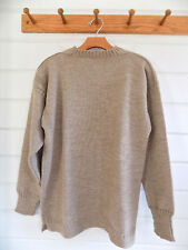 LE TRICOTEUR Traditional Guernsey heavy wool fishermans sweater beige - Sz. 42
