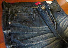 Guess Slim Straight Leg Jeans Mens Size 38 X 34 Classic Vintage Distressed Wash