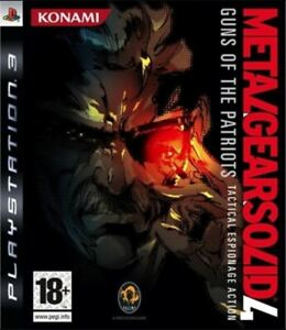 Metal Gear Solid 4 Guns of the Patriots PS3 NEW SEALED UK PAL Sony Playstation 3