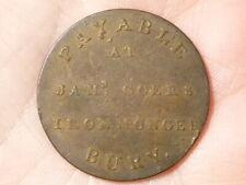 18thC Token James Goers Ironmonger Bury Plough & Fleece #TT8