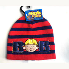 Bob the Builder Beanie Boys Toddlers Soft Knit Winter Acrylic Hat kids 2-4y Red