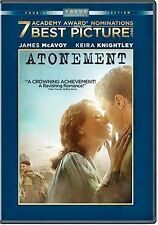 Atonement (DVD, 2008, Full Frame) Keira Knightley WORLDWIDE SHIP AVAIL!