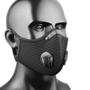 Unisex Washable Mouth-Muffle Activated Carbon Filter Bike Face Cover Dust-proof