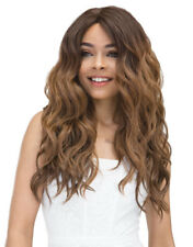 JANET COLLECTION SYNTHETIC SUPER FLOW DEEP PART LACE FRONT WIG - MOON