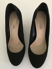 Dorothy Perkins Black Freya Suede Effect Court Shoes Size 6