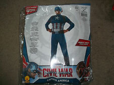 Marvel Captian America Muscle Chest custome dress up boys S 4-6 New