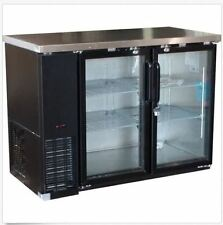 "Alamo Xubb48 49"" 11.8cf 2-Door Back-Bar Refrigerator Glass Beer Bottle Cooler"