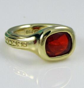 Slane & Slane Fantastic 18K Yellow Gold & Orange Citrine 14.5 Gram Size 7 Ring