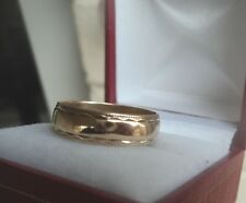 9ct Rose Gold Patterned Wedding Band Ring h/m 1985 Birmingham  -  size Q to R