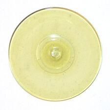 Glasbutzen 10cm gelb - mundgeblasen Butzenscheiben Tiffany Deko Glass Rondel B15