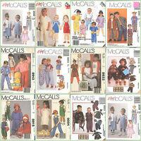 OOP McCalls Sewing Pattern Kids Toddlers Unisex Boys Girl You Pick