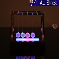 Light up Newtons Cradle Balance Ball Home Decor Office Science Desk Toy*