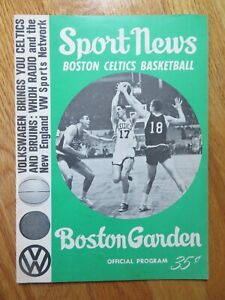 BOSTON CELTICS v SAN FRANCISCO WARRIORS 3-14-1965 Program JOHN HAVLICEK Auerbach