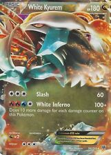 POKEMON B&W PLASMA STORM CARD: WHITE KYUREM EX - 96/135 - ULTRA RARE HOLO