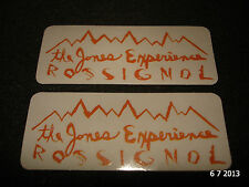 2 AUTHENTIC ROSSIGNOL THE JONES EXPERIENCE PROMO STICKERS #16 DECALS AUFKLEBER