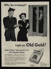 1945 OLD GOLD Cigarettes - U.S. Army & Navy Soldiers - Art - VINTAGE AD