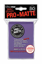 100 Ultra Pro Deck Protector Card Sleeves Pro Matte Purple Standard Magic