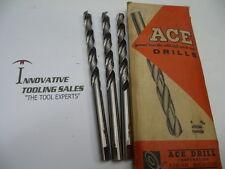 13/32 Taper Length HSS Drill GP Bright Ace Brand 3pcs