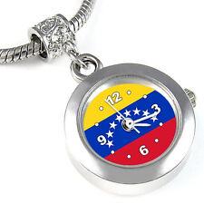 Venezuela Flag Silver European Spacer Charm Bead Watch For Bracelet EBA412